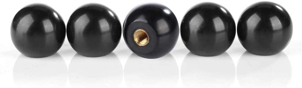 Plyisty 5Pcs Bakelite Ball Lever Knobs Copper Insert M8*32 Replacement Part for All Machine Tools M8 Female Threaded Bakelite Ball Knob