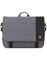 SA5998 Heather Gray Laptop Messenger Bag - Fits Most 16.5 Inch Laptops and Tablets