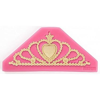Molde silicona corona de princesa y rey