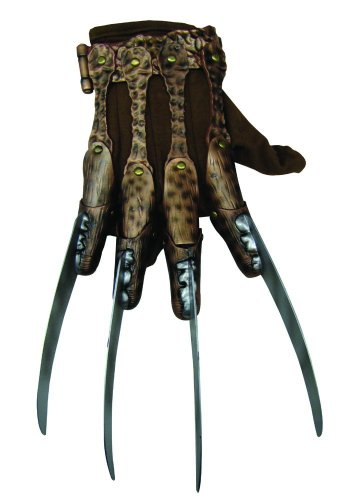 Price comparison product image Nightmare On Elm Street Deluxe Freddy Krueger Glove, Gray, One Size