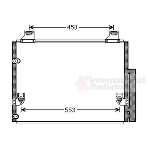 Van Wezel 53005563 Condenser, Air Conditioning VAN WEZEL GMBH