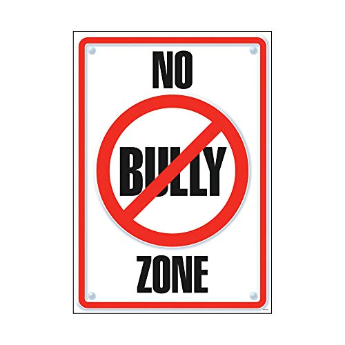 (Argus No Bully Zone Poster, 13.375