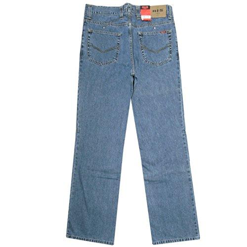 HIS, 18621R-5W Bruno, Herren Jeans, blue used, W 33 L 32 [14823]