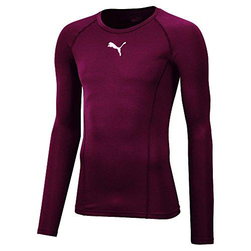 uomo T Baselayer Shirt cordovan Red Puma T Liga tqBRwYIn