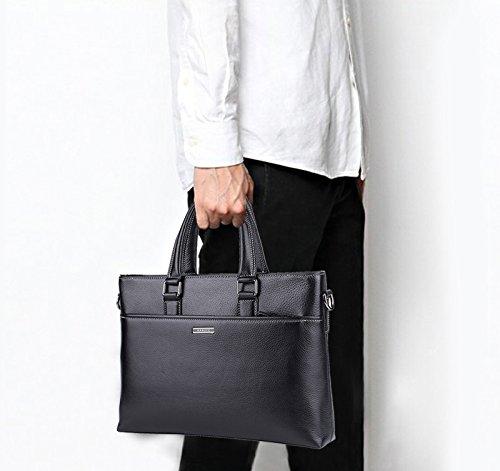 Banuce Genuine Leather Briefcase for Men Women Shoulder Messenger Bag Executive Bussiness Tote Laptop Bag by Banuce (Image #6)