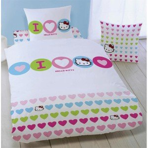 Hello Kitty-Juego de cama individual funda nórdica y funda ...