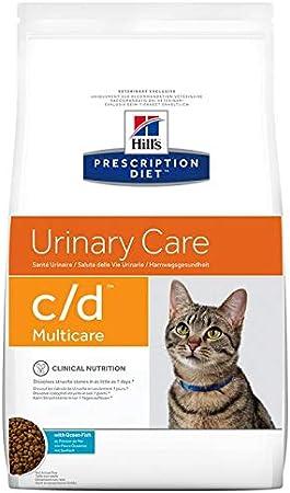 Hill' S Prescription Diet C/D Urinary Care al pescado oceánico para la salud de las vías urinarias del gato, 5kg