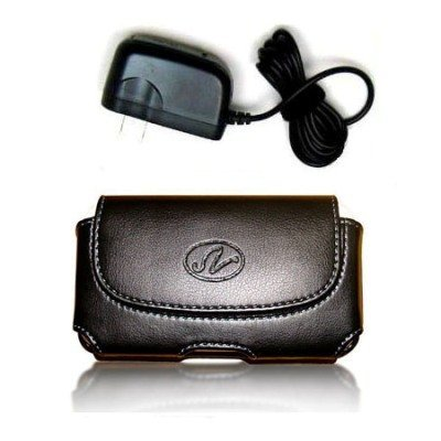 Leather Horizontal Case and Wall Charger for Samsung Galaxy Core Plus SM-G350