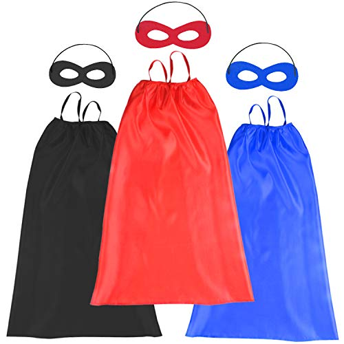 Hero Factory Costumes (Kids Halloween Capes and Masks- Costume for Girls Boys Dress Up -Compatible Superhero Party Toys (3Pc)