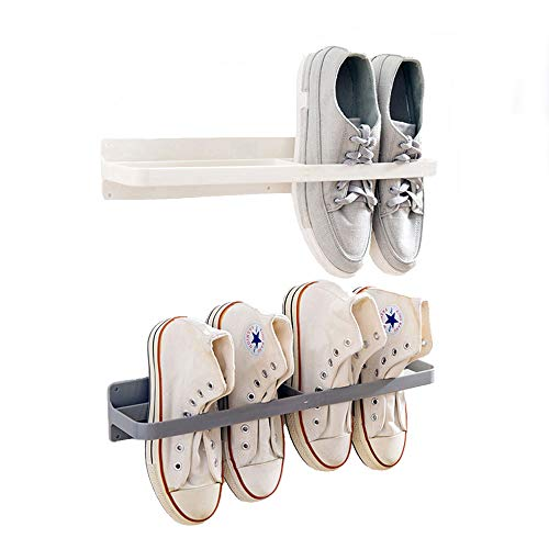 Esdella Shoes Rack Organizer Mounted Wall Storage Shelf Shoe Holder Keeps Any Shoes Off The Floor (Simple-Set of 2) (Wall Closets Shoe Racks Mounted For)