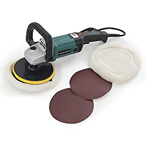 "ARKSEN 7"" Electric Polisher Buffer Waxer Sander Detailers Variable Speed, 6 Speed, w/ Carrying Case"