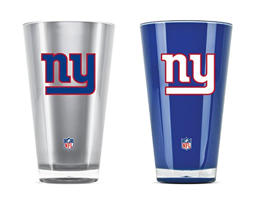 NFL New York Giants 20oz Insulated Acrylic Tumbler Set of 2 ()