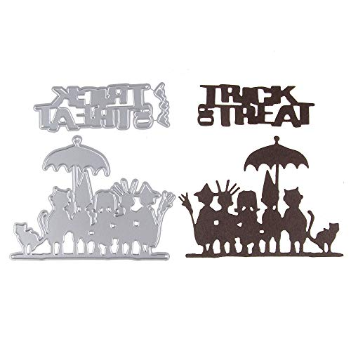 VT BigHome 2pcs/Set Halloween Trick or Treat Stencil Metal Cutting Dies Cut Practice Hands-on DIY Scrapbooking Album Craft Dies Tool
