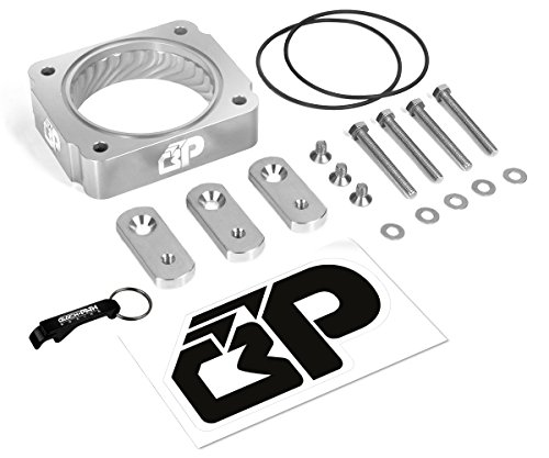 BlackPath - Mustang Throttle Body Spacer Ford Performance (Silver) T6 (Mustang Intake Spacer)