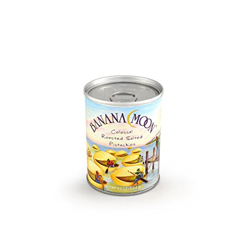 Pistachios, Roasted & Salted, Banana Moon Small Can 48ct/4.0oz by In-Room Plus, Inc.