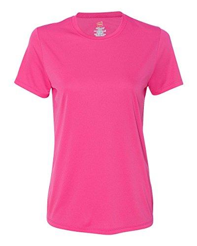 Hanes 4830 Ladies 4 oz. Cool Dri T-Shirt - wow pink - XX-Large