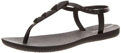 Ipanema Women's Maya Thong Sandal,Black/Black,5 M US