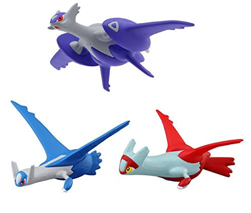 Takaratomy Sun & Moon Mini Figure Set of 3 - Mega Latios (SP-32), Latios (MC-60), Latias (MC-61)