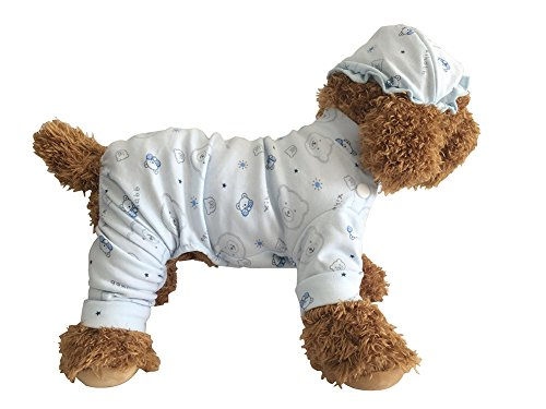 EastCities Pet Dog Cat Clothes for Small Dogs Puppy Pajamas Outfit,Blue XS