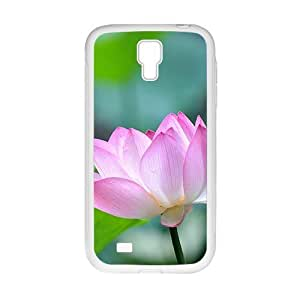 Glam Pink lotus elegant personalized creative clear protective cell phone case for Samsung Galaxy S4