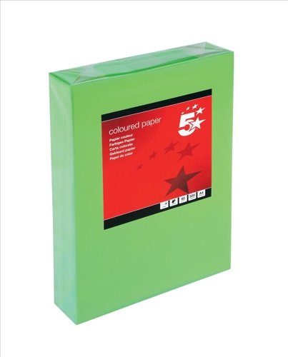 5 Star - Carta colorata multifunzione, 80 g/mq, formato A4, verde scuro, risma da 500 fogli Spicers UK 936321