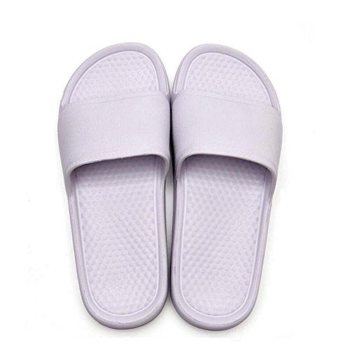 Femmes / Hommes Slip On Slippers Non-slip Douche Maison Mule Doux Mousse Sole Piscine Chaussures Salle De Bains Eau D'été Tongs Purple