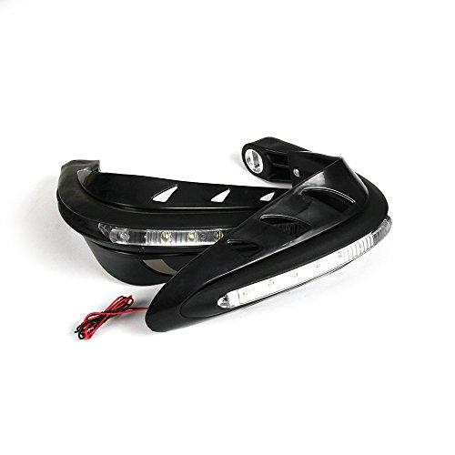 Handguard With LED Signal Light 7/8 inches For Honda KAWASAKI SUZUKI YAMAHA KTM Husqvarna Motocross Motorcycle Enduro Dirt Bike Street Bike Motocross (Black)