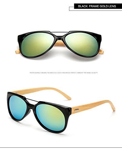 Personalidad Hombres Marco 400 De E De Gafas para Ultravioleta F Madera del Aviador La Protección para Los Sol del De Mujer nUq8Pw
