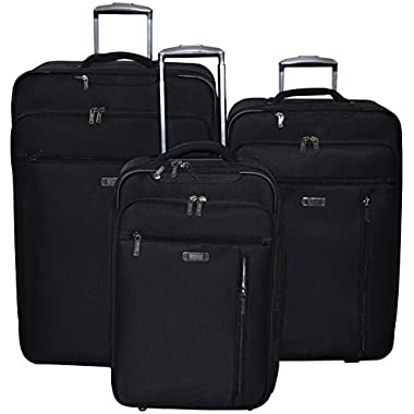 Kenneth Cole Reaction Auto Pilot 3 Pc Luggage Set (Black)