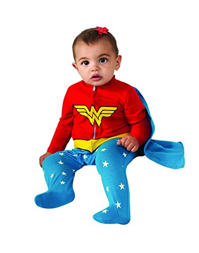 Baby 0-6 Costumes Months (Rubie's Costume Baby Girl's DC Comics Superhero Style Baby Wonder Woman Costume, Multi, 0-6)