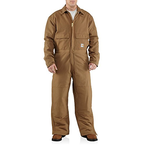 Carhartt Men's Flame Resistant Duck Coverall,Brown (Closeout),XX-Large Short by Carhartt
