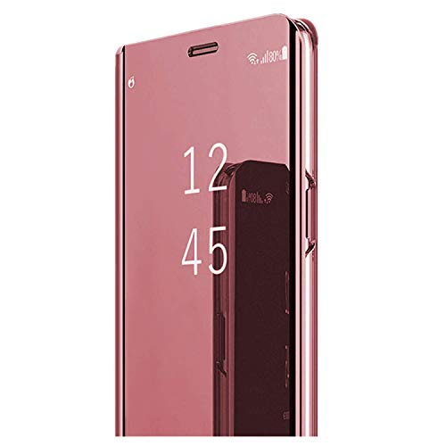 - Phone Case for Galaxy A6 (2018) Luxury Clear Mirror View Galaxy A6+ Case Electroplate Hard PC Flip Folio Stand Protective Cover (Rose Gold, Galaxy A6)