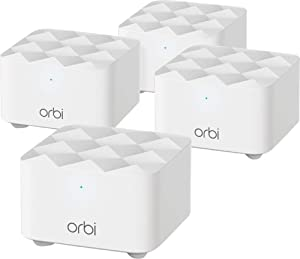 NETGEAR Orbi RBK14-100NAS Whole Home Mesh WiFi System - up to 1.2Gbps high-Performance WiFi with up to 6,000 Square feet of Coverage. Expand Your Home's WiFi Coverage to Eliminate WiFi Dead Zones