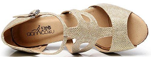 CFP - Zapatillas de danza de Satén para mujer Dorado dorado 4JxV5eIm