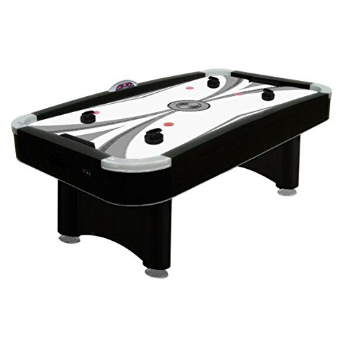(Premium Black 7-ft Air Hockey Chrome Table w/5 Year Warranty from FamilyPoolFun.com)