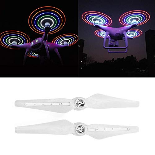 Wikiwand 1Pair Chargeable LED Drone Propellers CW CCW Blades for Phantom 4 Series by Wikiwand (Image #1)