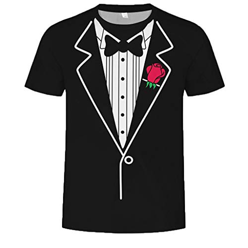 Interlock Print Cotton Turtleneck (FEDULK Mens T-Shirt Tee Funny Patterned Lightweight O Neck Short Sleeve Slim Fit Casual Blouse Tops Shirts(C, X-Large))