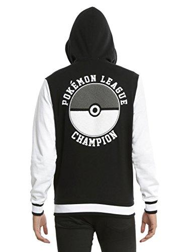 Fashion Hooded Varsity Jacket Pokemon Trainer (Small/Medium) (Pokemon Trainer Jacket)