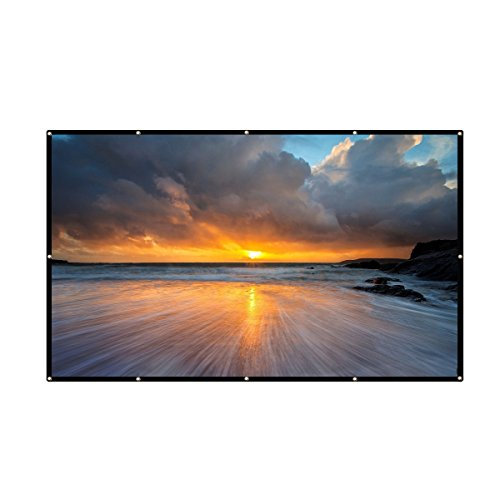 electag 100 Inch 16:9 PVC HD Fordable Portable Home And Outdoor Use Projector Screen