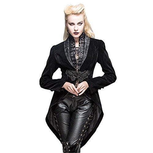 Devil Fashion Gothic Women Swallow Tail Jackets Renaissance Victorian Formal Coat