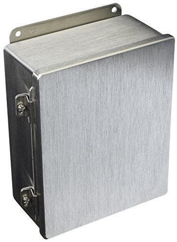Hoffman A1008CHAL J Box, NEMA 12, Hinged Cover, Aluminum, 10.00