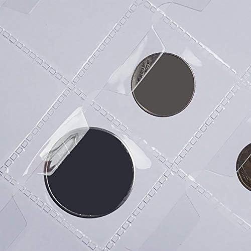 Tivollyff 42グリッドコインコレクション28mmコイン以下のアルバムページには滑り止めカバーコインホールドブックコインコレクションライブページ1シート