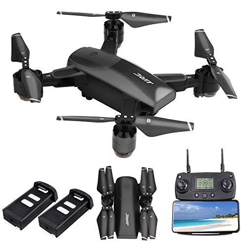 JJRC H78G FPV Drone with 1080P HD Wi-Fi Camera Live Video and GPS Return Home, RC Quadcopter for Adults, Follow Me and Film, 5G WiFi Transmission, GPS Waypoint Flying, Bonus Battery, Black