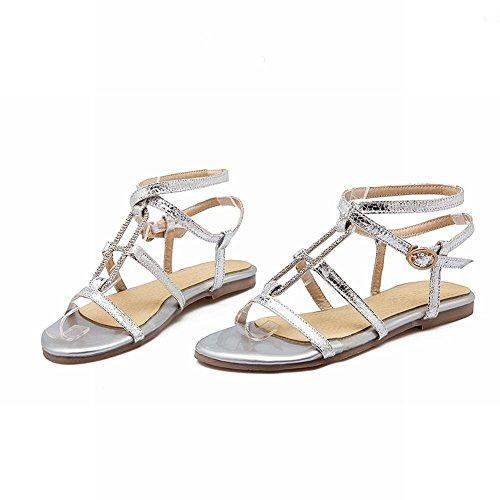 Mee Shoes Damen Flach Open Toe Schnalle Sandalen