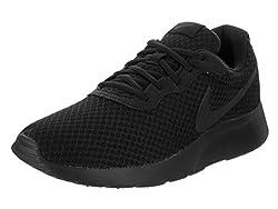 Nike Mens Tanjun Running Sneaker Blackblack-anthracite Size 13