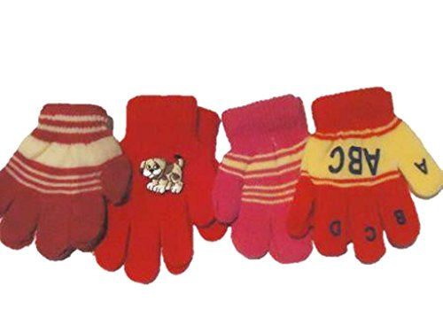 Four Pairs Magic Gloves for Infants and Toddlers Ages 1-3 Years Imported Magic Gloves