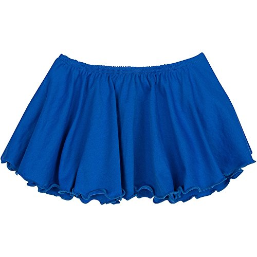 Toddler and Girls Flutter Ballet Dance Skirt Royal Blue I (6-7) by The Leotard Boutique