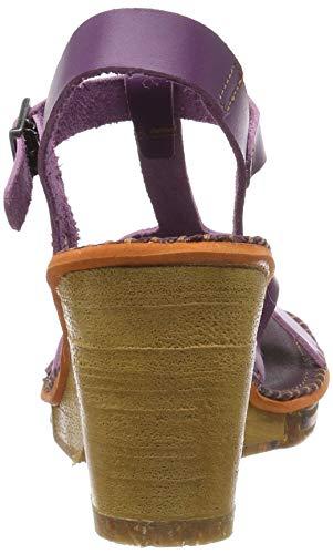 Sandalo con Art violetto alla cinturino amsterdam viola viola caviglia donna Vitello viola 1079 per xqfpI