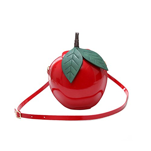 Red Apple Purse - Kuang Women's Cute Apple Shape Cross Body Handbag PU leather Purse Clutch