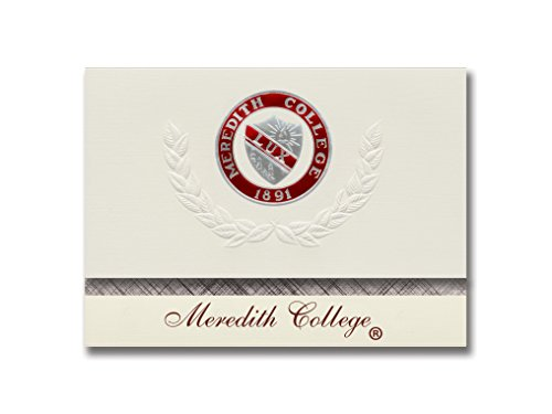Signature Announcements Meredith College Graduation Announcements, Platinum style, Basic Pack 20 with Meredith College Seal Foil ()